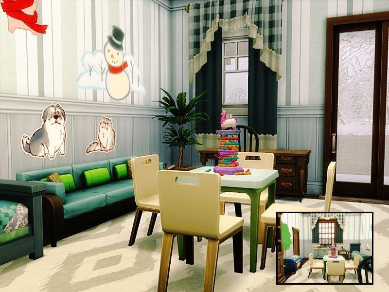"Классический дом ""Селина"" от Danuta720 для Sims 4"