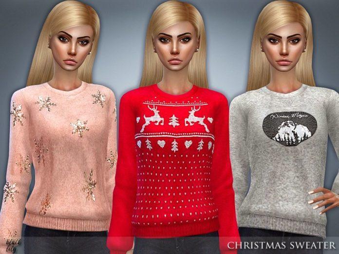 Рождественский свитер от Black Lily для Sims 4