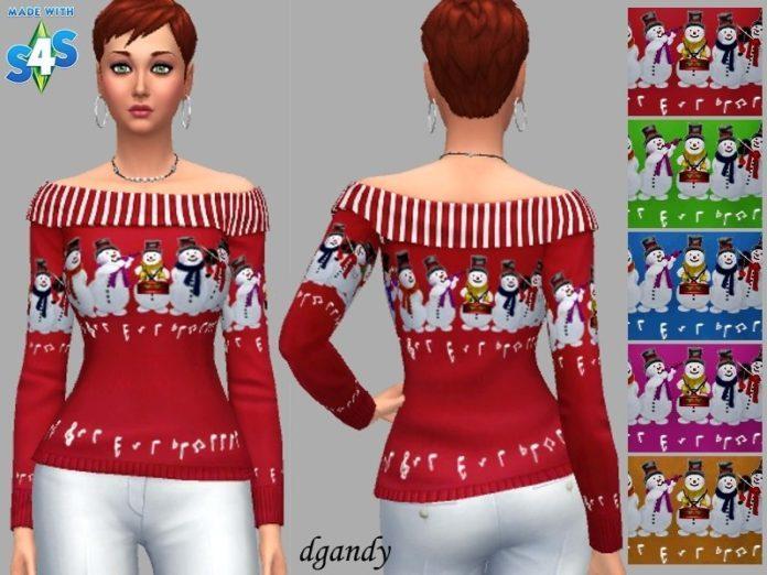 Рождественский свитер Има от dgandy для Sims 4