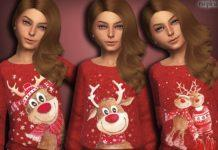 Рождественский свитер с оленем от MSQSIMS для Sims 4