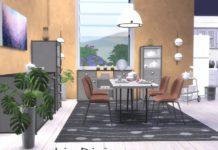 """Столовая """"Лиз"""" от ShinoKCR для Sims 4"""