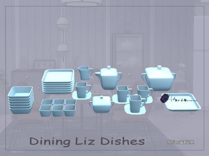 Набор столовой посуды Лиз от ShinoKCR для Sims 4