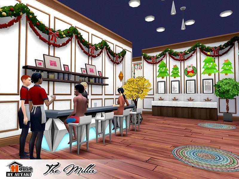 """Ресторан """"Милла"""" от autaki для Sims 4"""
