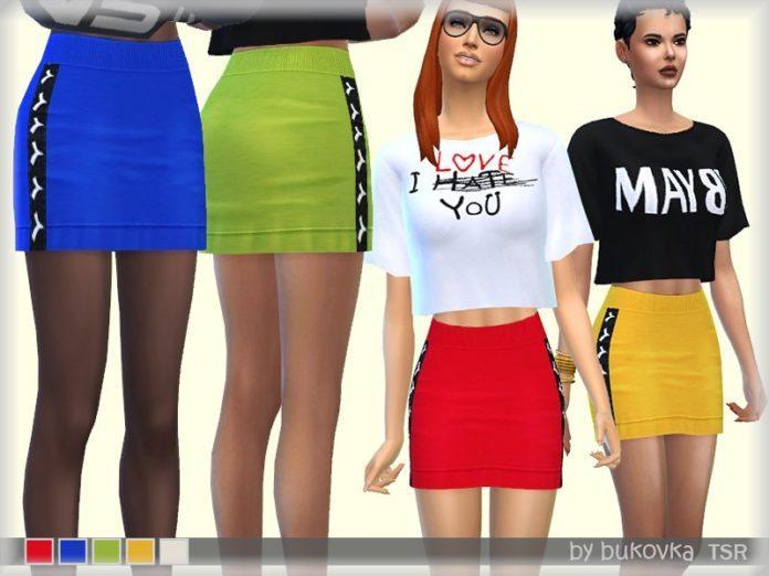 Мини-юбка TYA от bukovka для Sims 4