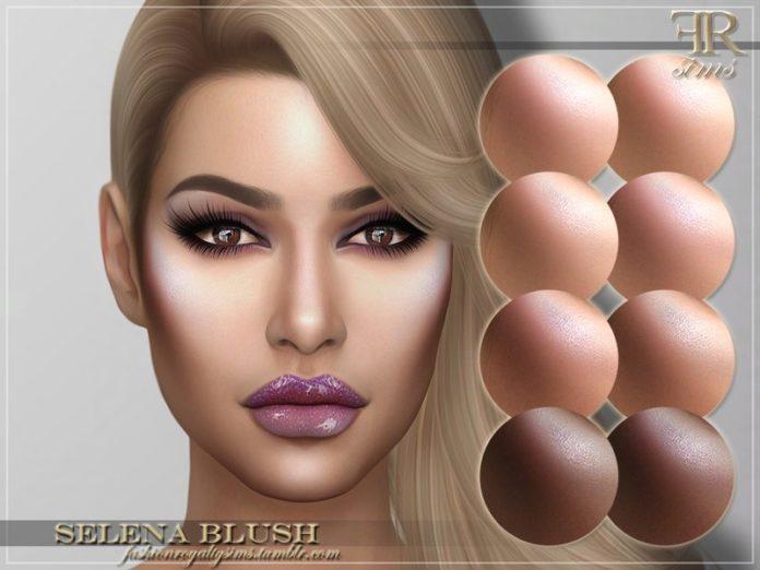 Румяна Селена от FashionRoyaltySims для Sims 4