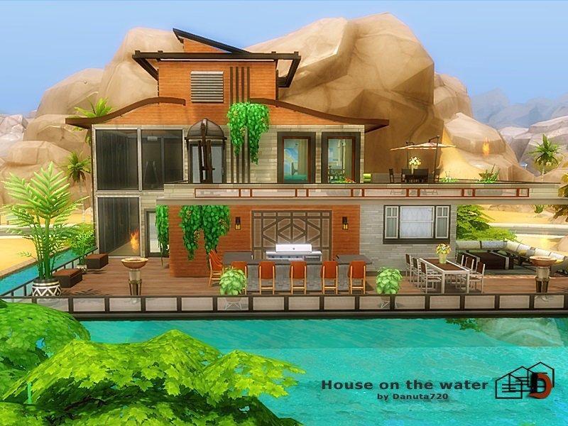 Дом на воде от Danuta720 для Sims 4