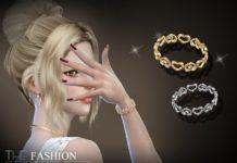 Женский браслет с сердечками от S-Club для Sims 4
