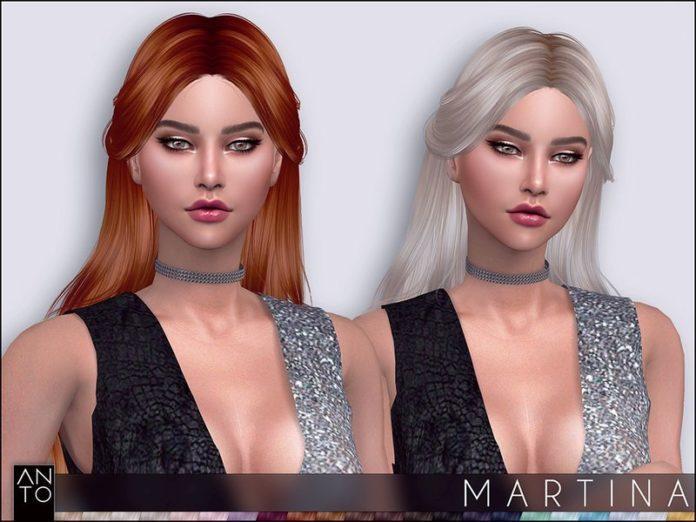 Прическа Martina от Anto для Sims 4
