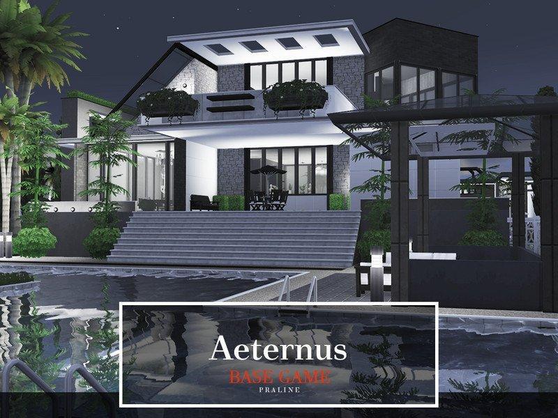 Вилла Aeternus от Pralinesims для Sims 4
