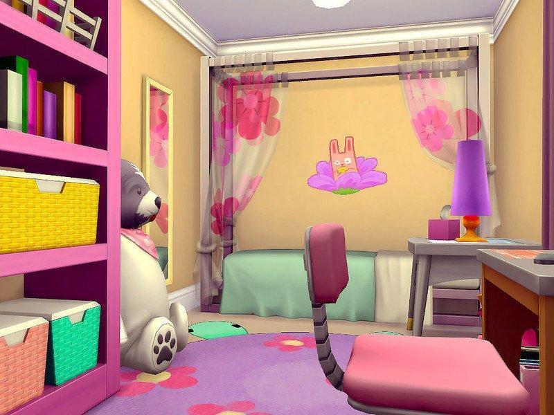 Рубиновый коттедж от sharon337 для Sims 4