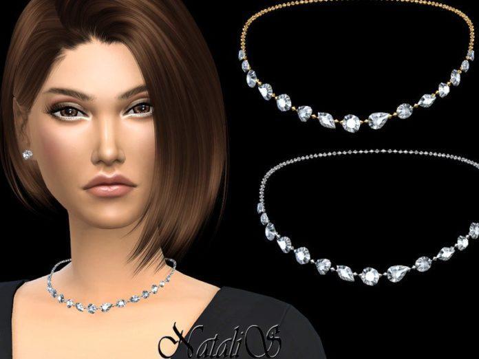 Колье с драгоценными камнями от NataliS для Sims 4