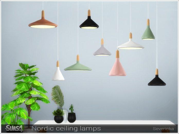 Набор потолочных светильников от Severinka_ для Sims 4