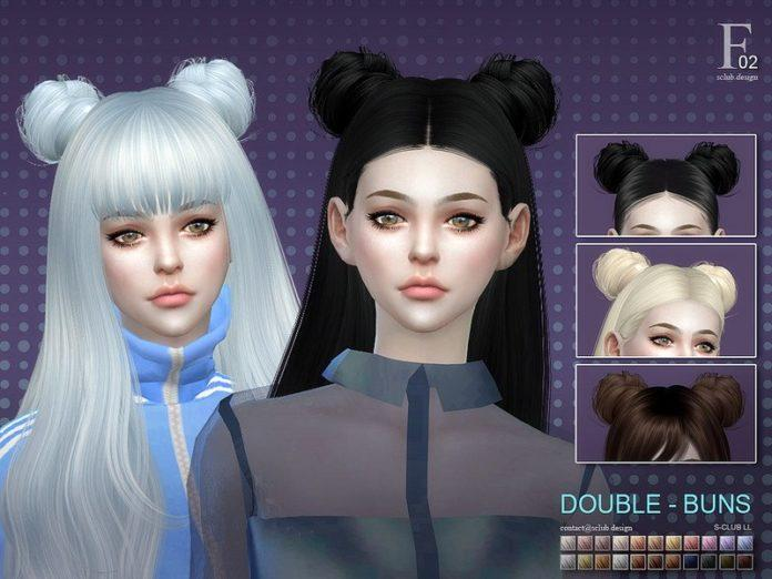 Два пучка волос от S-Club для Sims 4