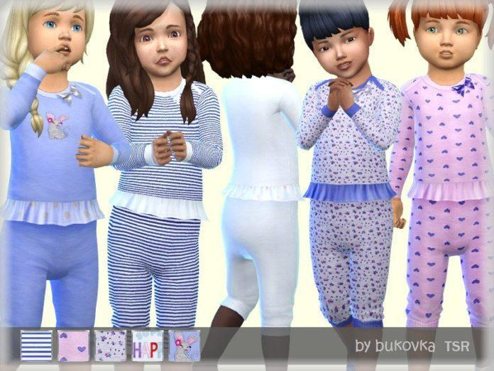 Фиолетовые пижамы для девочек от bukovkaдля Sims 4