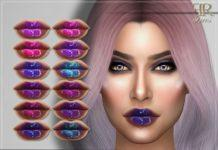 Неоновая помада от FashionRoyaltySims для Sims 4
