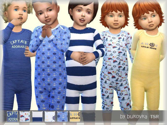 Пижама для мальчика от bukovka для Sims 4