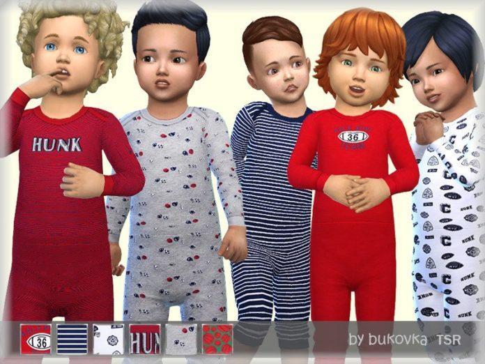 Пижама-комбинезон для мальчика от bukovka для Sims 4