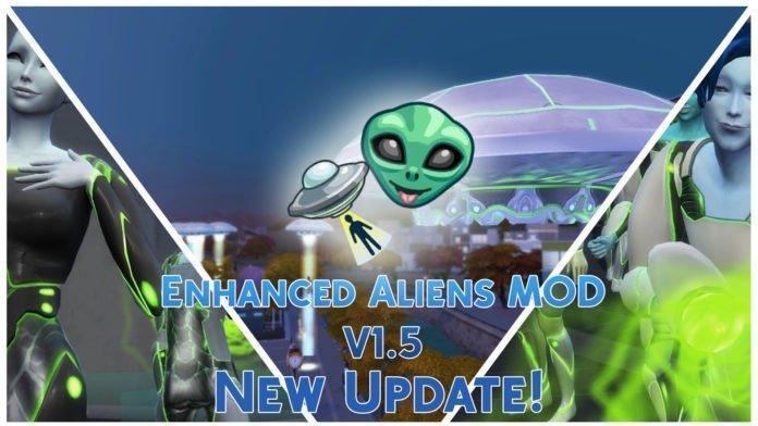 Мод: улучшенные силы инопланетян для Sims 4