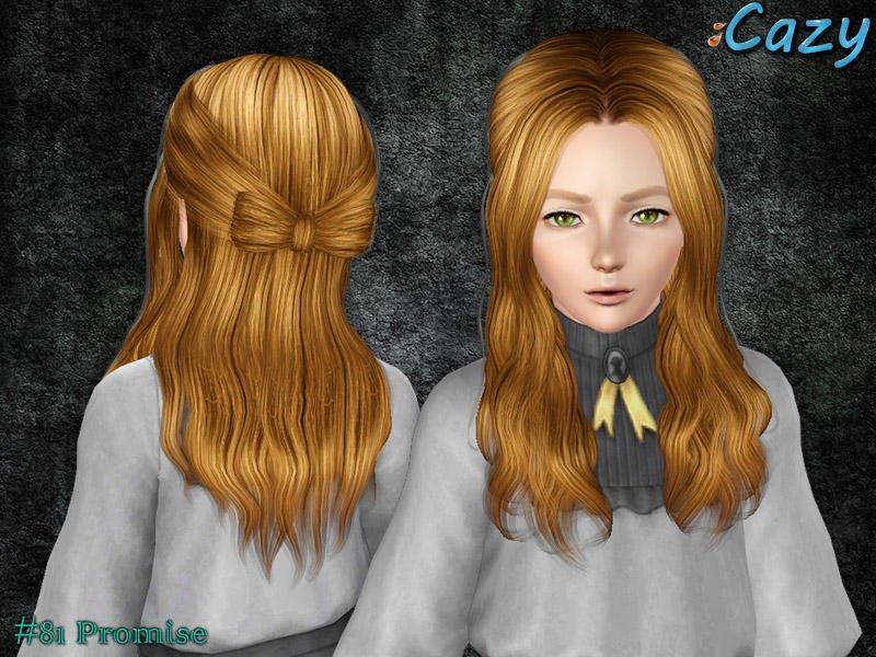 Прическа №81 для всех возрастов от Cazy для Sims 3