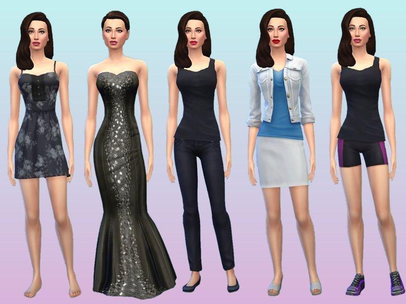 Симка Анджелина Джоли от Flovv для Sims 4