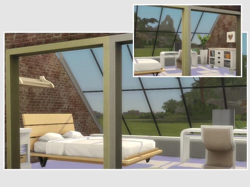 """Дом """"Прозрачность"""" от philo для Sims 4"""