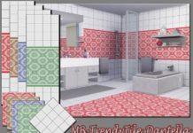 Плитка для стен и пола от matomibotaki для Sims 4