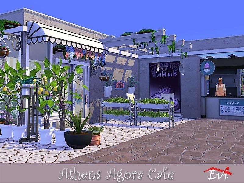 "Кафе ""Агора"" от evi для Sims 4"
