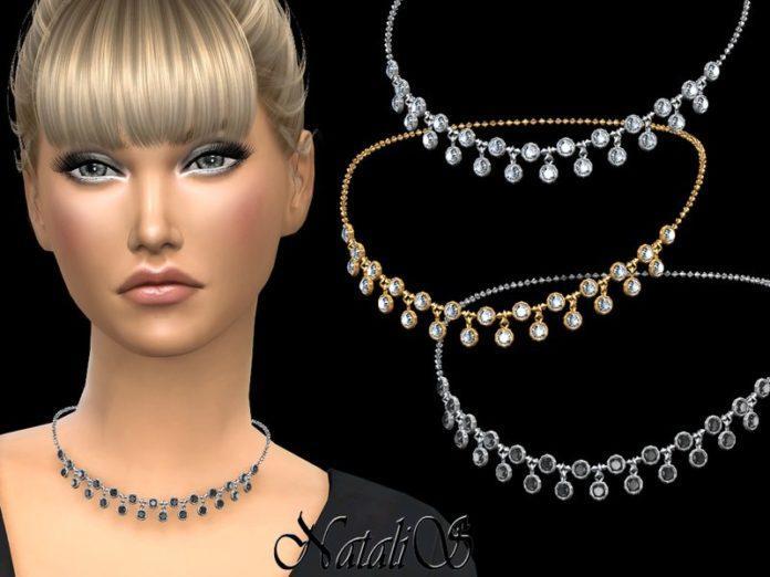 Колье с мелкими кристаллами от NataliS для Sims 4