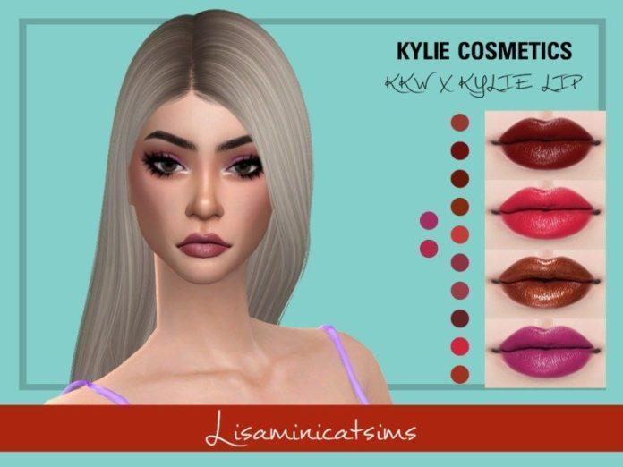 Губная помада KYLIE от Lisaminicatsims для Sims 4