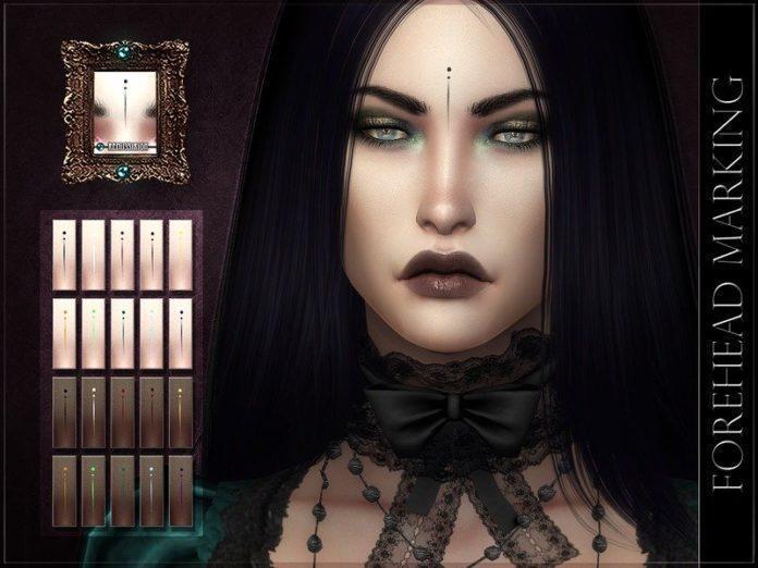 Метка на лоб от RemusSirion для Sims 4