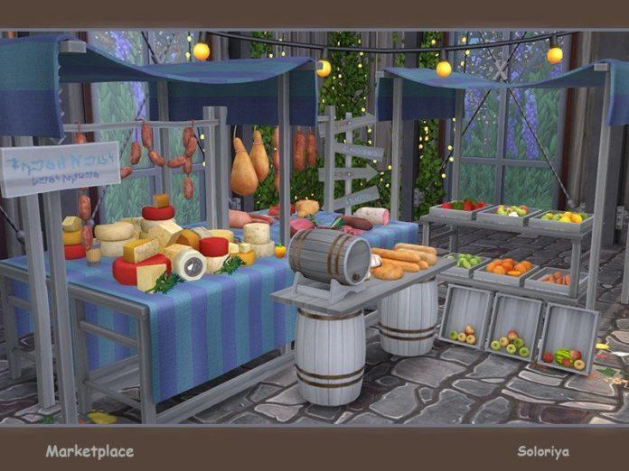 Рынок (мебель + декор) от soloriya для Sims 4