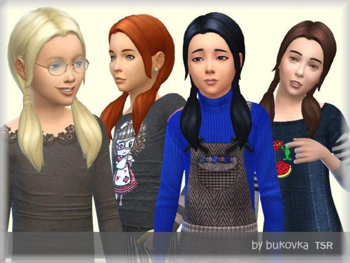 Хвостики для девочек от bukovka для Sims 4