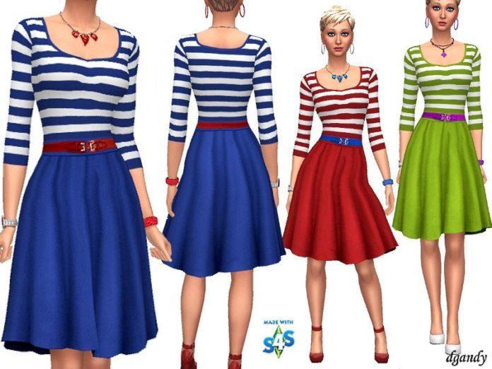 Топ и юбка от dgandy для Sims 4