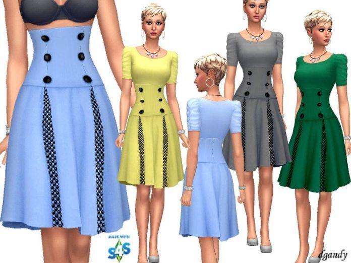 Юбка с широким поясом от dgandy для Sims 4