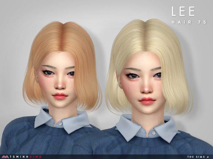 Женская прическа Lee от TsminhSims для Sims 4