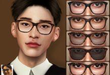 Очки в роговой оправе от Pralinesims для Sims 4