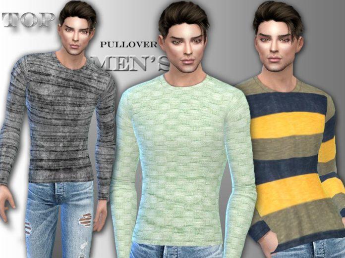 Мужской пуловер от Sims House для Sims 4