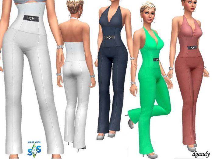 Брюки с высокой талией от dgandy для Sims 4Брюки с высокой талией от dgandy для Sims 4