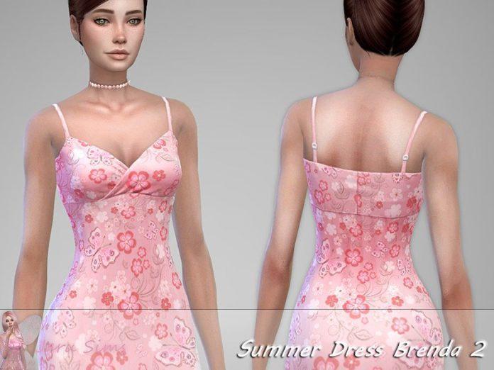 Длинный сарафан от Jaru Sims для Sims 4