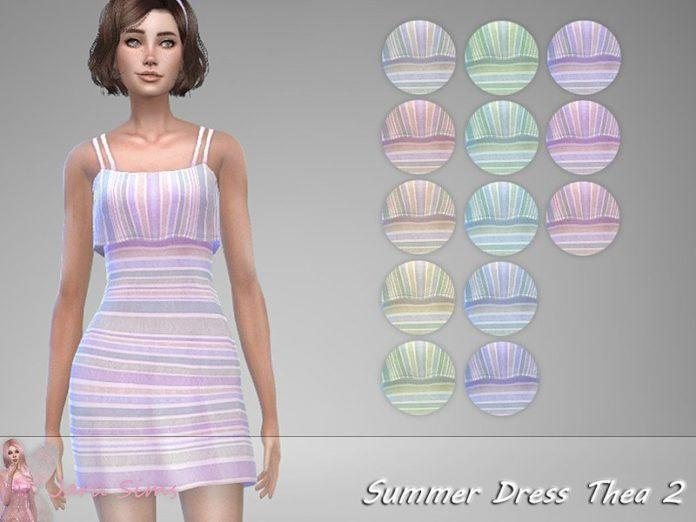 Сарафан Тэя от Jaru Sims для Sims 4