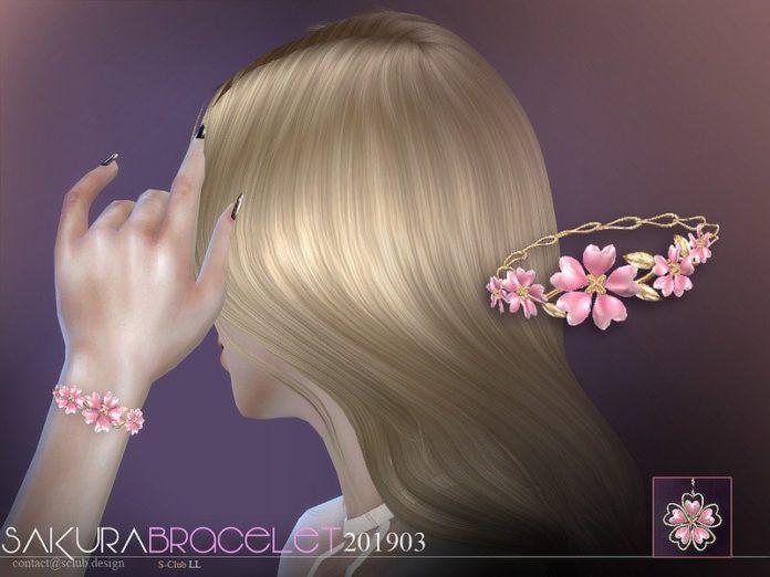 Браслет Сакура от S-Club для Sims 4