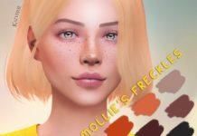 "Веснушки ""Молли"" от KatVerseCC для Sims 4"