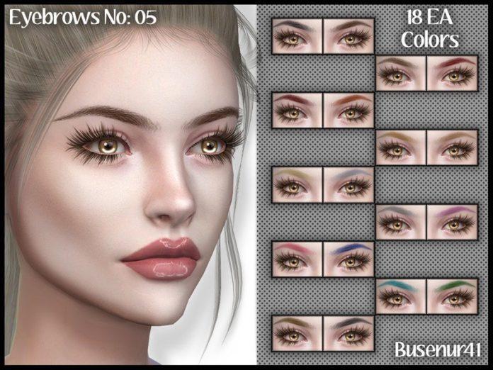 Натуралистичные брови №5 от Busenur41 для Sims 4