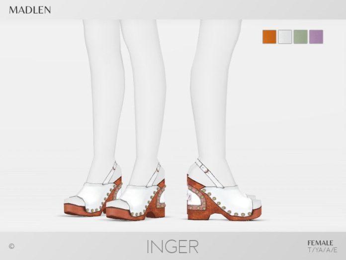 Босоножки Inger от MJ95 для Sims 4