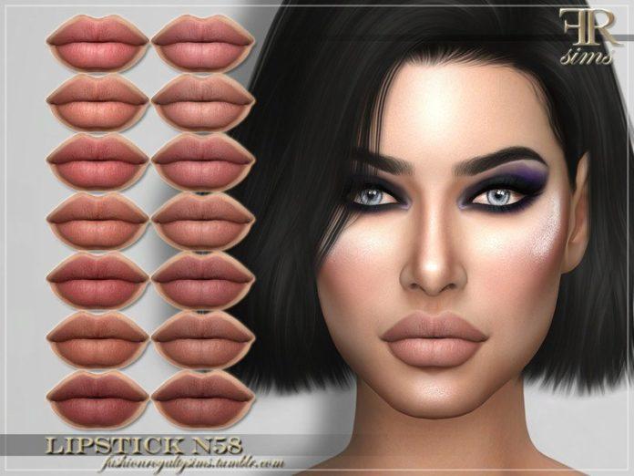 Губная помада № 58 от FashionRoyaltySims для Sims 4