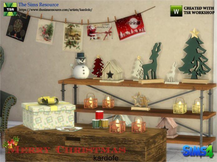 Рождественский набор мелочей от kardofe для Sims 4