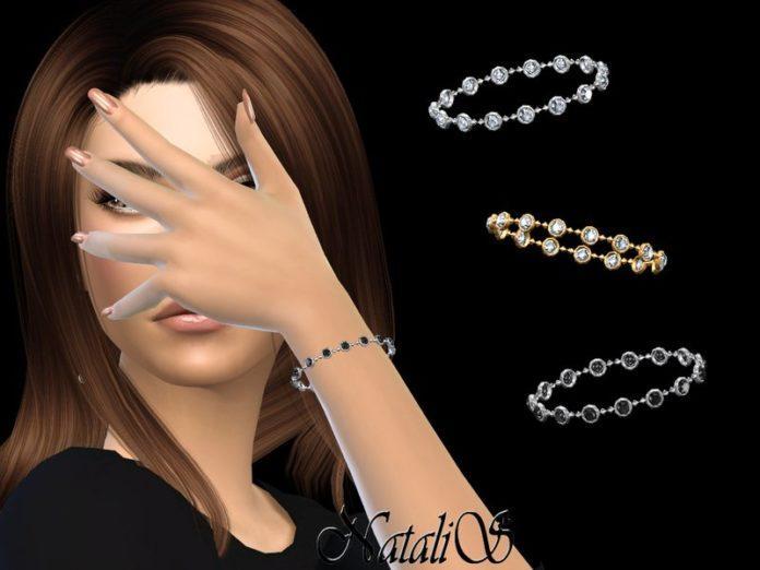 Браслет с круглыми кристаллами от NataliS для Sims 4