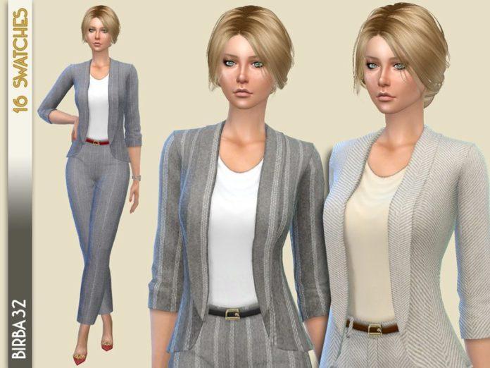 Женский костюм двойка от Birba32 для Sims 4