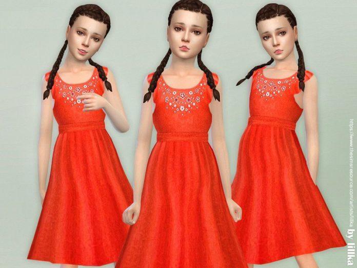 Детское платье БОХО от lillka для Sims 4