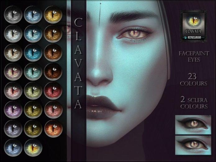 Глаза с удлиненным зрачком Clavata от RemusSirion для Sims 4